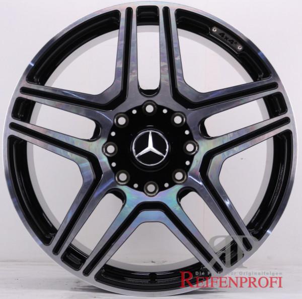 Original Mercedes Benz G-Klasse W463 G500 4x4² 22 Zoll Felgen Satz A4634010600 Schwarz poliert 1044-