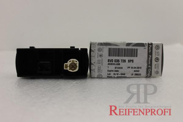 Anschluß Audioquellen AUX USB 8V0035726 6PS OEM Original Audi A3 OEM NEU