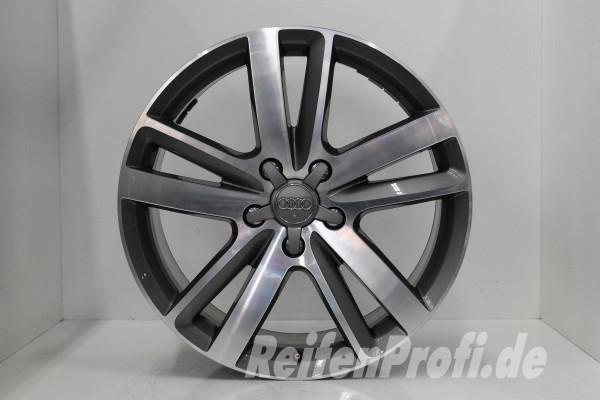 Original Audi Q7 4L V12 TDI 4L0601025BM S line Felgen Satz 20 Zoll 1085-B2