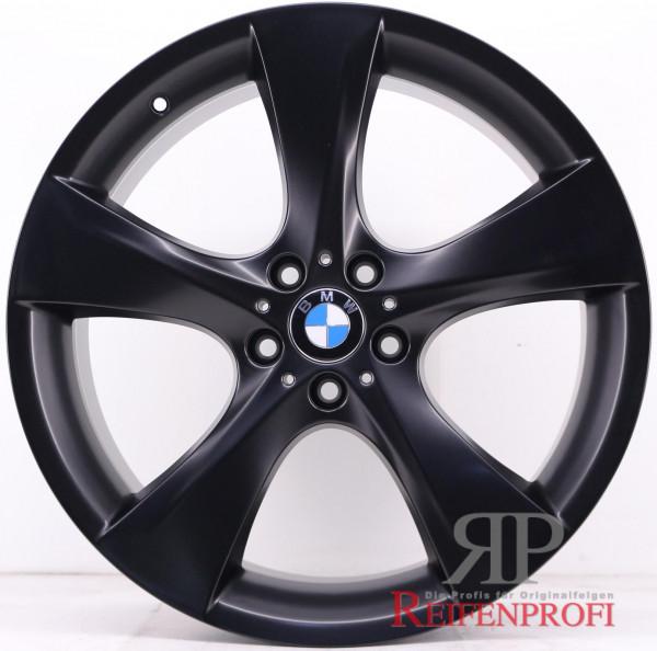 Original BMW 7er Serie F01 F02 21 Zoll Felgen Satz Schwarz matt Styling 311 814-A1