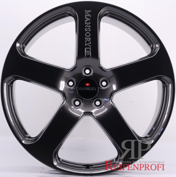 Porsche Cayenne 9PA Mansory C5 11Jx23 ET50 5x130 23 Zoll Felgen Satz NEU Black Chrom