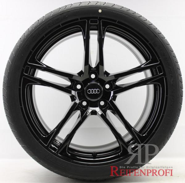 Original Audi R8 GT V8 V10 19 Zoll Sommerräder Sommersatz 8,5x19 & 10,5x19 Schwarz glänzend