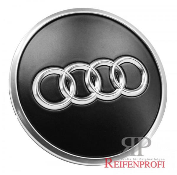 Original Audi Q7 4M Nabendeckel 4M0601170B schwarz-matt Felgen 4M0601025F