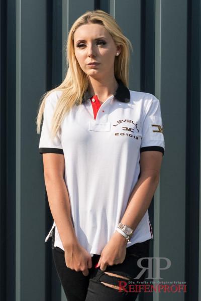 Qualitativ hochwertiger Levella Polo Shirt Weiß Gr. M