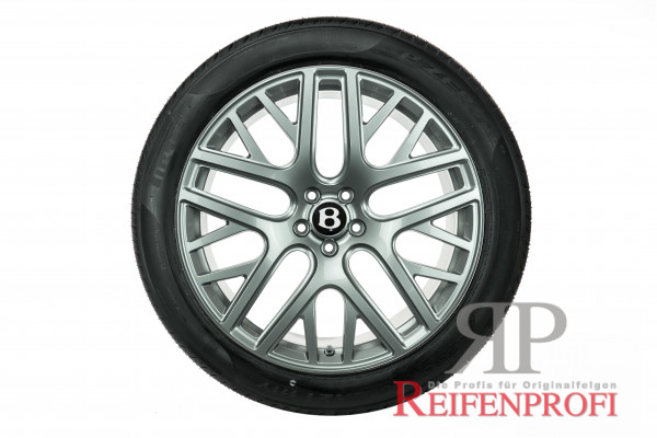 Original Bentley Continental GT3 GTC 21 Zoll Flying Spur Sommerräder 3W0601025FG Silber