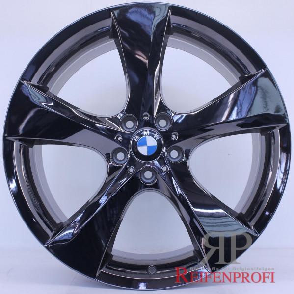 Original BMW 5er GT F07 21 Zoll Alufelgen Styling 311 Felgen Satz Schwarz Chrom RPGT1