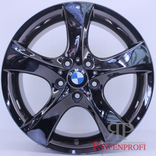 Original BMW 1er E87 E88 18 Zoll Alufelgen 7,5 & 8,5x18 Styling 311 Schwarz Chrom RPE3
