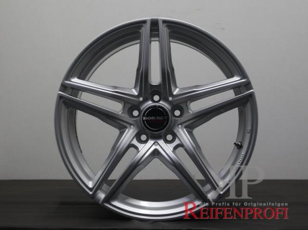 Borbet XRT brilliant silver Porsche Macan Audi Q3 8x18 ET21 5x112 18 Zoll Felgen Satz 808-D