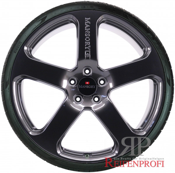 Porsche Cayenne 9PA Original Mansory C5 23 Zoll Sommerradsatz Sommerräder Black Chrom