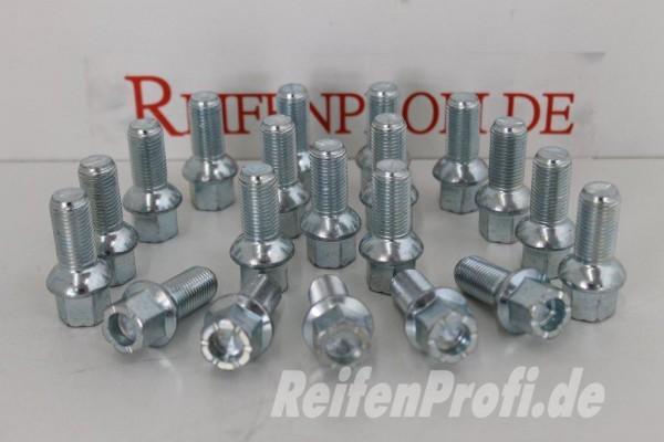 20 x Radschrauben Radbolzen M14 x1,5 L 27 28 SW 17 Kugelbund VW Phaeton 3D NEU X