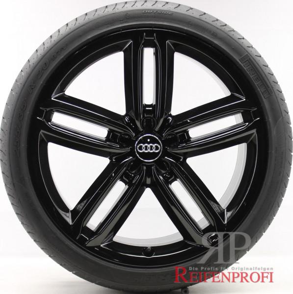Audi A6 4G C7 20 Zoll Sommerräder Sommersatz OE Felgen Schwarz glänzend