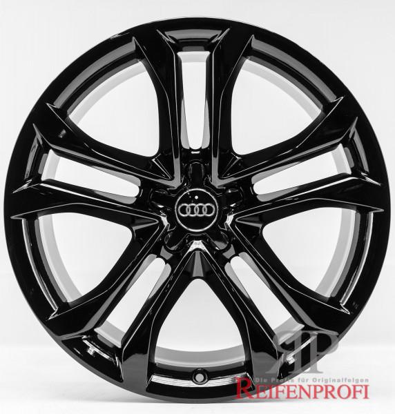 Original Audi A7 4G8 4GA 8,5x19 ET32 4G8601025AH 4G8601025F Schwarz glänzend