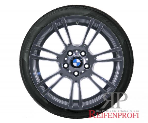 Original BMW 1er M Coupe 18 Zoll Sommerräder 2283905 Styling M270 Titan glänzend