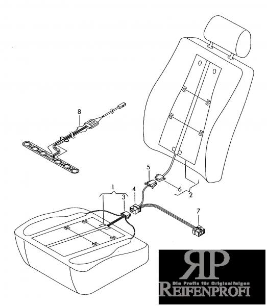 Original Audi VW Seat Skoda Einlage für Sitzbelegungserkennung 8T0963553C Sensor NEU