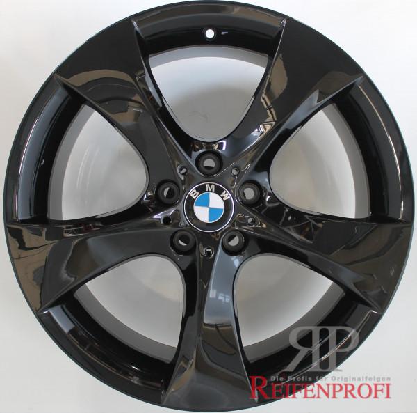 Original BMW 5er F10 F11 20 Zoll Felgen Satz Schwarz glänzend Styling 311 334-A4