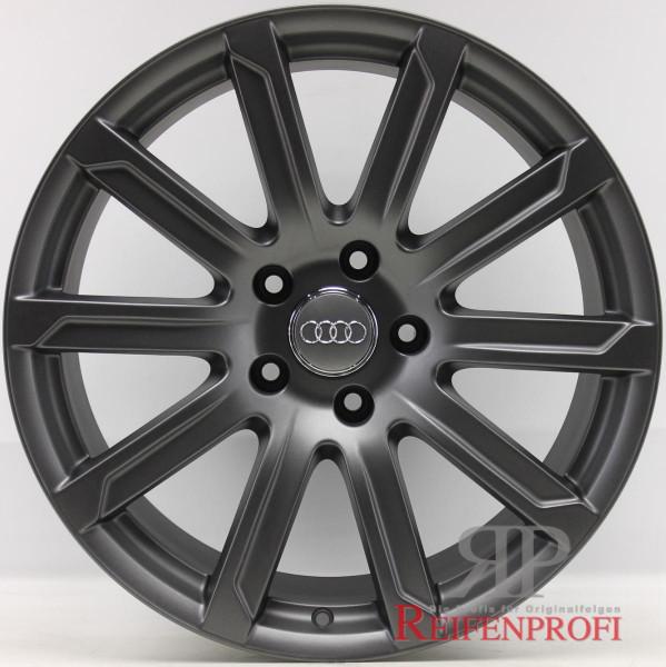 Original Audi Q7 4L V12 TDI Alufelgen Satz 4L0601025AD 10x20 ET44 Titan-Matt