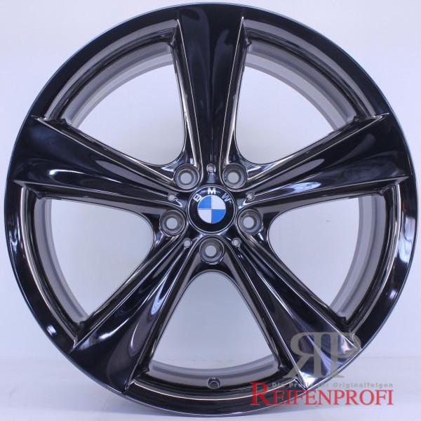 Original BMW 21 Zoll X5 E70 F15 M Facelift Alufelgen Satz Styling 128 Schwarz Chrom RPX3